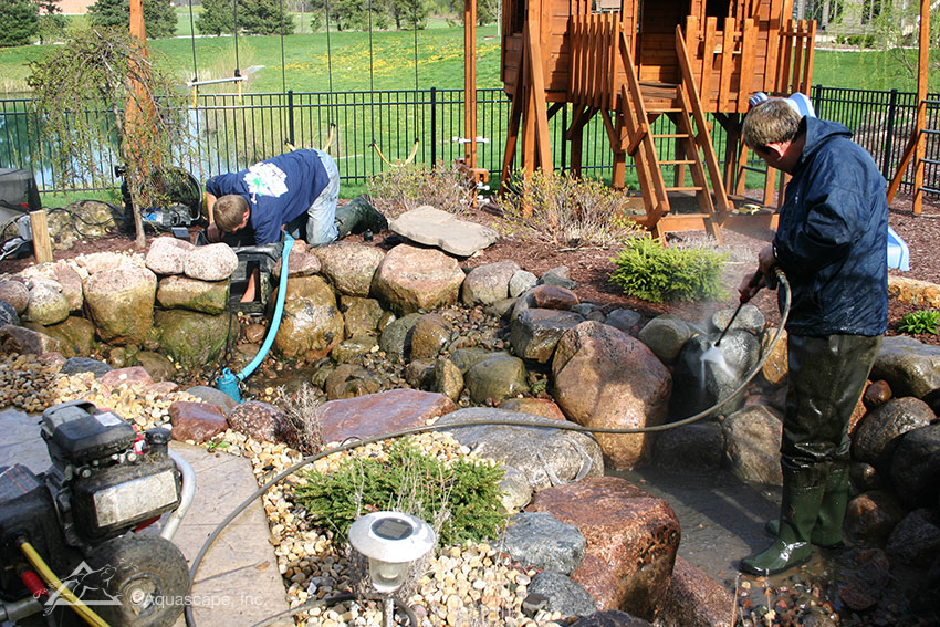 Pond cleaning spring pond cleaning companies chicago il for Pond cleaning fish
