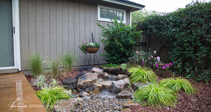 Backyard Waterfall Pondless Waterfall Aquascape Construction - Backyard pondless waterfalls