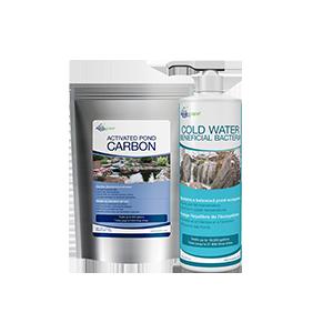 Carbon bacteria pond treatment
